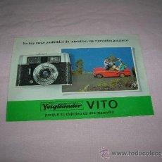 Cámara de fotos: FOLLETO CÁMARA DE FOTOS VITO . Lote 37028389