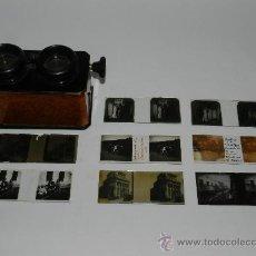 Cámara de fotos: ANTIGUO VERASCOPE, VISOR ESTEREOSCOPICO PRINCIPIOS DEL SIGLO XX, FUNCIONANDO ESTUPENDAMENTE, MIDE 13. Lote 42803403