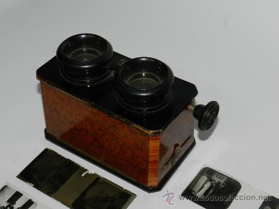 Cámara de fotos: ANTIGUO VERASCOPE, VISOR ESTEREOSCOPICO PRINCIPIOS DEL SIGLO XX, FUNCIONANDO ESTUPENDAMENTE, MIDE 13 - Foto 2 - 42803403