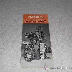 Cámara de fotos: YASHICA - HAY UNA CAMARA PARA TODOS - CATALOGO ANTIGUO FOTOGRAFIA. Lote 37681159