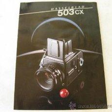 Cámara de fotos: FOLLETO PUBLICITARIO DE LA CAMARA HASSELBLAD 503 CX. Lote 39037520