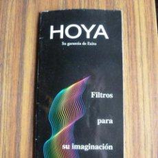 Cámara de fotos: CATALOGO DE FILTROS HOYA. Lote 38816828