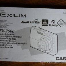 Cámara de fotos: MANUAL DE INSTRUCCIONES CAMARA EXILIM EX- Z500. Lote 38826874