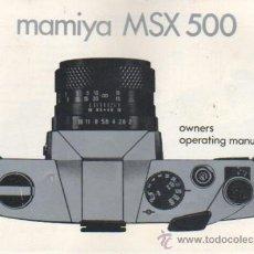 Cámara de fotos: CATALAGO DE LA CAMARA MAMIYA MSX 500 . Lote 39123137