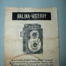 Cámara de fotos: HOJA MANUAL DE HALINA VICEROY. Lote 39440084