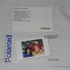 Cámara de fotos: POLAROID VISION MANUAL DE INSTRUCCIONES ORIGINAL Y GARANTIA ESPAÑOL CAMARA FOTOS INSTANTANEA. Lote 39481975