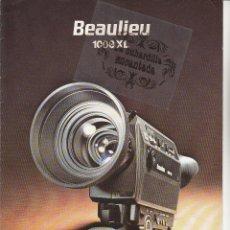 Cámara de fotos: CATALOGO CAMARA BEAULIEU 1008 XL - CARACTERISTICAS, ACCESORIOS, FICHA TECNICA - SUPER 8 AÑO 1979. Lote 39724755