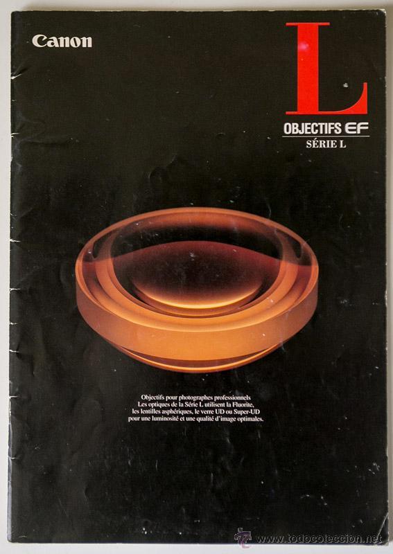 CATÁLOGO CANON OBJETIVOS SERIE L FRANCÉS 1996 (Cámaras Fotográficas - Catálogos, Manuales y Publicidad)