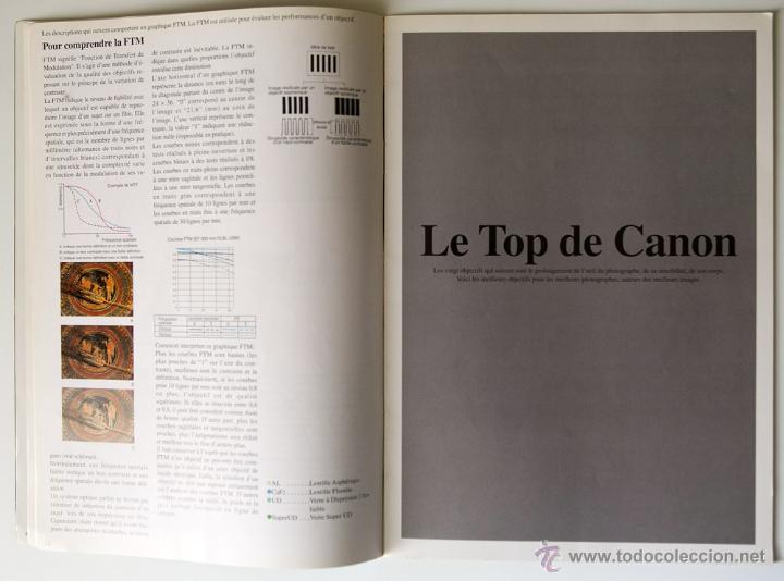 Cámara de fotos: CATÁLOGO CANON OBJETIVOS SERIE L FRANCÉS 1996 - Foto 4 - 39832132