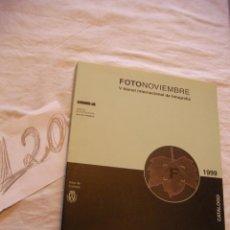 Cámara de fotos: ANTIGUO CATALOGO FOTONOVIEMBRE - ENVIO GRATIS A ESPAÑA. Lote 39902578