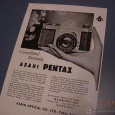 Cámara de fotos: 1962 PUBLICIDAD ORIGINAL CAMARA FOTOGRAFICA ASAHI PENTAX. Lote 40063175