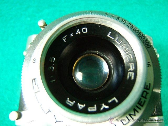 Cámara de fotos: ELJY LUMIERE CLUB-FORMATO MINIATURA-OBJETIVO LYPAR 1:3,5-B1 A 300-DIAFR:3,5A 16-PRECIOSA CAMARA... - Foto 2 - 40856448