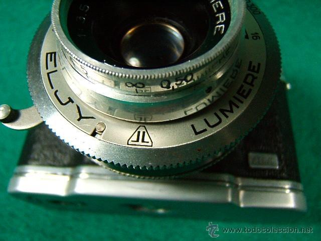 Cámara de fotos: ELJY LUMIERE CLUB-FORMATO MINIATURA-OBJETIVO LYPAR 1:3,5-B1 A 300-DIAFR:3,5A 16-PRECIOSA CAMARA... - Foto 3 - 40856448