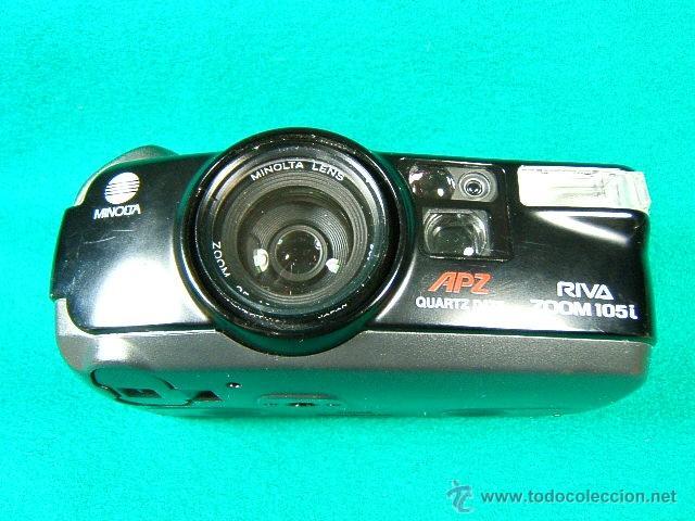 MINOLTA RIVA ZOOM 105 I APZ QUARTZ DATE-35/105 MM-1:4 6,7-FLASH INCORPORADO-FOTOMETRO-MADE IN JAPAN. (Cámaras Fotográficas - Otras)