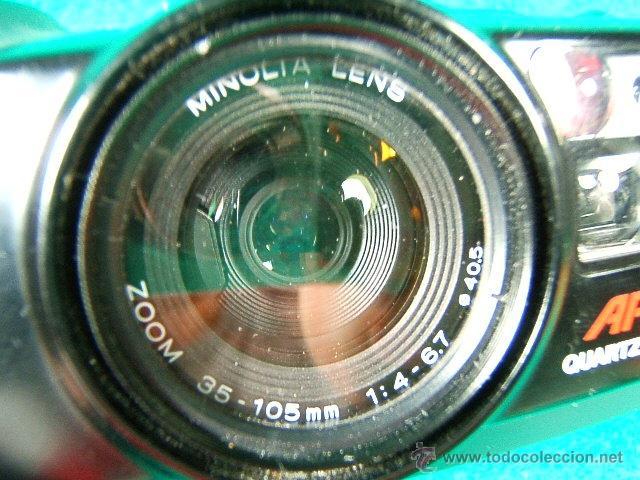 Cámara de fotos: MINOLTA RIVA ZOOM 105 i APZ QUARTZ DATE-35/105 MM-1:4 6,7-FLASH INCORPORADO-FOTOMETRO-MADE IN JAPAN. - Foto 2 - 40872564