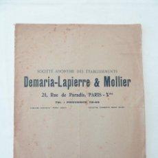 Cámara de fotos: DEMARIA-LAPIERRE & MOLLIER – PARIS 1925 - CATÁLOGO DE PROYECTORES Y AMPLIADORAS. Lote 41063690