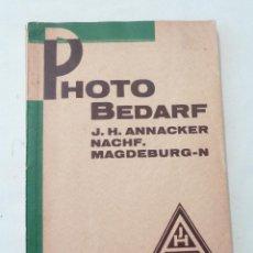 Cámara de fotos: J. H. ANNACKER NACHF - 1929 - CATÁLOGO ALEMÁN DE APARATOS Y COMPLEMENTOS PARA LA FOTOGRAFÍA. Lote 41063878