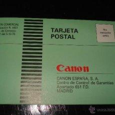 Cámara de fotos: GARANTIA CANON. Lote 41084592