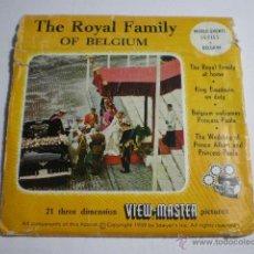 Cámara de fotos: TRES TARJETAS VIEW MASTER BODA FAMILIA REAL BELGICA. Lote 41535707
