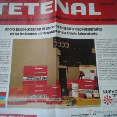 Cámara de fotos: CATALOGO PUBLICITARIO TETENAL PRODUCTOS QUIMICOS PARA FOTOGRAFIA EXIGENTE AÑO 1981. Lote 42022285