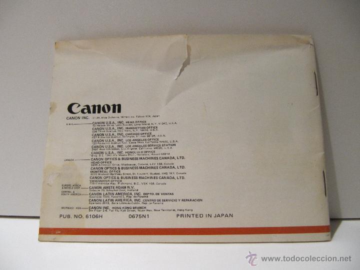 Cámara de fotos: MANUAL DE INSTRUCCIONES CANON CAMARA CANONET 28 - Foto 2 - 42263521