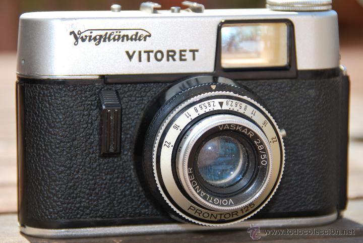 CAMARA FOTOGRÁFICA VOIGTLANDER VITORET - OBJETIVO VASKAR 2.8/50 - PRONTOR 125 - CON FUNDA (Cámaras Fotográficas - Otras)