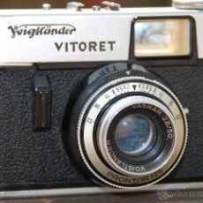 Cámara de fotos: CAMARA FOTOGRÁFICA VOIGTLANDER VITORET - OBJETIVO VASKAR 2.8/50 - PRONTOR 125 - CON FUNDA. Lote 42527617