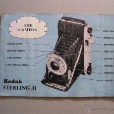 Cámara de fotos: MANUAL DE INSTRUCCIONES CAMARA KODAK STERLING II, EN INGLES 13,5X9CM APROX. Lote 42725066