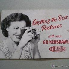 Cámara de fotos: MANUAL DE INSTRUCCIONES CAMARA GB-KERSHAW-110, EN INGLES 15X10CM APROX. Lote 42725194