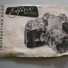 Cámara de fotos: MANUAL DE INSTRUCCIONES CAMARA EDIXA REFLEX, EN INGLES 15X10CM APROX (EXTERIOR MAL ESTADO). Lote 42725430