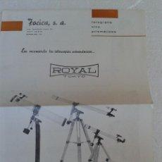 Cámara de fotos: ANTIGUO CATALOGO TELESCOPICOS ROYAL AÑO 1970. Lote 42880132