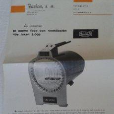 Cámara de fotos: ANTIGUO CATALOGO FOCO CON VENTILACION HEDLER AÑO 1970. Lote 42880141