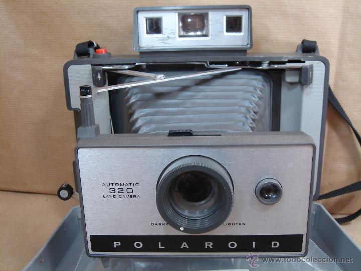 Cámara de fotos: POLAROID 320 AUTOMATIC + FLASHGUN BULBO 268 + FUNDA ORIGINAL + MANUAL - LAND CAMERA 1978 - Foto 3 - 42995030