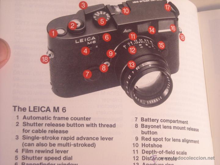 Cámara de fotos: Instrucciones Leitz camara leica m6 en inglés 43 páginas del año 1987 Nuevas - Foto 2 - 166071082