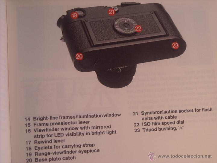 Cámara de fotos: Instrucciones Leitz camara leica m6 en inglés 43 páginas del año 1987 Nuevas - Foto 3 - 166071082