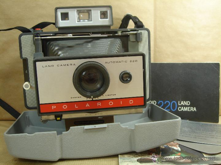 CAMARA INSTANTANEA - POLAROID 220 AUTOMATIC + MANUAL - LAND CAMERA 1968 (Cámaras Fotográficas - Otras)