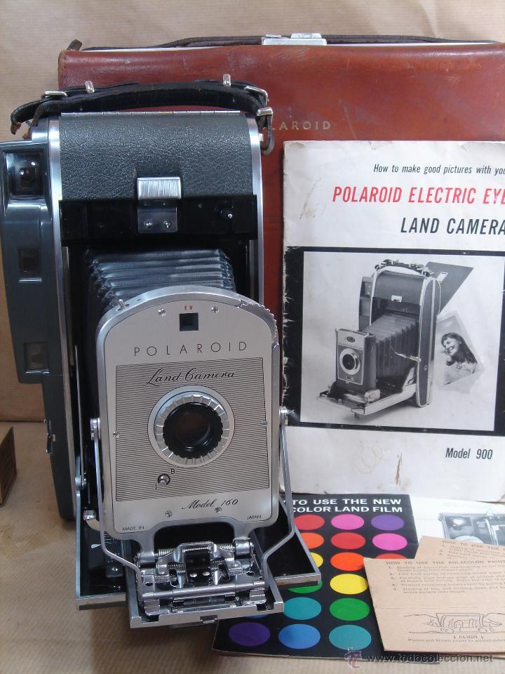 IMPRESIONANTE CAMARA INSTANTANEA - POLAROID 160 + ESTUCHE ¡¡¡ BUEN ESTADO ¡¡¡ AÑO 1962 (Cámaras Fotográficas - Otras)