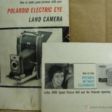 Cámara de fotos: MANUAL USUARIO INSTRUCCIONES - POLAROID ELECTRIC EYE 900 - 300 FLASH BULBS -. Lote 43222096