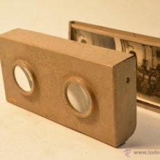 Cámara de fotos: VISOR ESTEREOSCÓPICO RELLEV - MODELO A1 PARA FOTOGRAFÍAS 6X13 (C.1940) . Lote 43264336