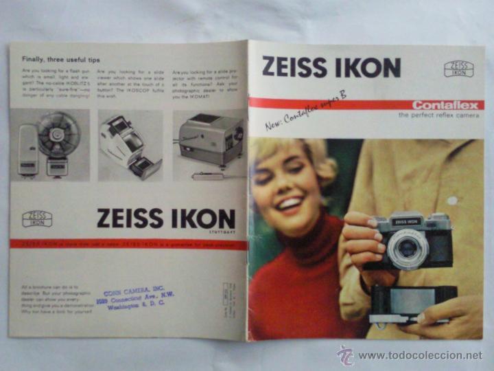 CATALOGO EN INGLES, CAMARA DE FOTOS CONTAFLEX SUPER B, ZEISS IKON (Cámaras Fotográficas - Catálogos, Manuales y Publicidad)