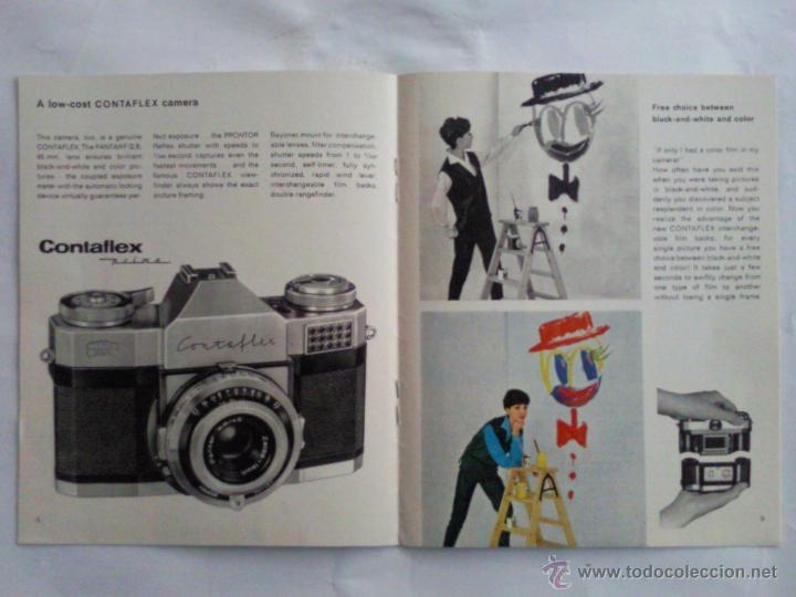 Cámara de fotos: CATALOGO EN INGLES, CAMARA DE FOTOS CONTAFLEX SUPER B, ZEISS IKON - Foto 2 - 43414664