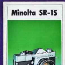 Cámara de fotos: CATALOGO - MINOLTA - CAMARA FOTOGRAFICA - SR-1S - CON OBJETIVO ROKKOR - AÑOS 60 - RD25. Lote 43506523