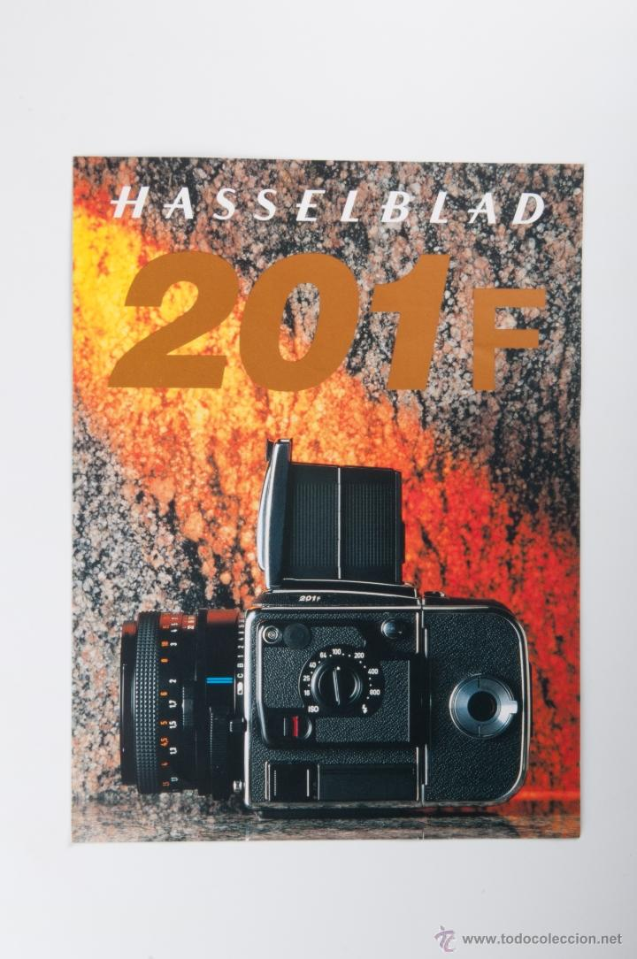 FOLLETO HASSELBLAD 201F (Cámaras Fotográficas - Catálogos, Manuales y Publicidad)