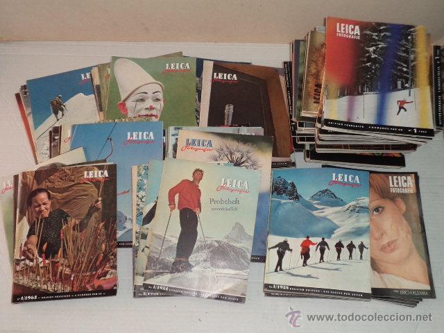 REVISTA LEICA FOTOGRAFIE – DE LOS AÑOS 1954 AL 1973 – COMPLETOS – 127 REVISTAS – EN INGLÉS Y FRANCÉS (Cámaras Fotográficas - Catálogos, Manuales y Publicidad)
