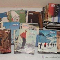 Cámara de fotos: REVISTA LEICA FOTOGRAFIE – DE LOS AÑOS 1954 AL 1973 – COMPLETOS – 127 REVISTAS – EN INGLÉS Y FRANCÉS. Lote 44757543