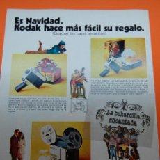 Cámara de fotos: PUBLICIDAD 1970 - COLECCION CAMARAS - CINECAMARA KODAK M22 M24 PROYECTOR M66-TRAS.PUBL GINEBRA GORD. Lote 44814220