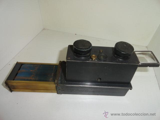 Cámara de fotos: Cámara estereoscópica Verascope de Jule Richard. Paris 1900 - Foto 4 - 44822521