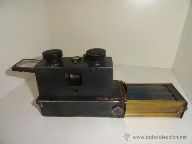 Cámara de fotos: Cámara estereoscópica Verascope de Jule Richard. Paris 1900 - Foto 6 - 44822521