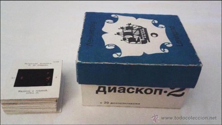 Cámara de fotos: Visor de diapositivas ruso. Con 20 diapositivas. Caja original - Foto 5 - 44931122
