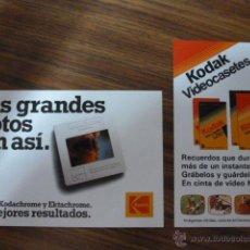 Cámara de fotos: PEQUEÑA PUBLICIDAD DE KODAK. Lote 45109396